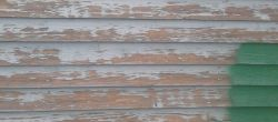 Perinteistä rintamamiestalon seinää.